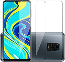 POPIO Full Screen Coverage Except Edges Tempered Glass Screen Protector for Xiaomi Redmi Note 9 Pro/Redmi Note 9 Pro Max/Poco X2 with Easy Installation Kit (Transparent) - Pack of 2