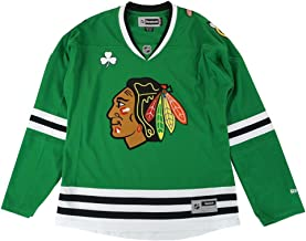 adidas Chicago Blackhawks NHL Green St. Patricks Day Premier Edge Jersey for Women