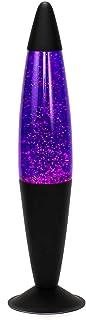 Lámpara de lava decorativa JENNY Brillo Violeta Negro 42cm de alto lámpara de mesa luz de ambiente