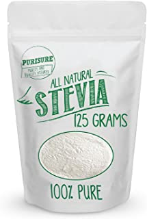 All Natural Stevia Powder 125g (846 Servings), Highly Concentrated Pure Extract, No Fillers, Additives or Artificial Ingredients, Zero-Calorie Sweetener, Best Sugar Substitute