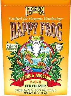 FoxFarm FX14640 قورباغه مبارک 7 3 3 کود درختی مرکبات و درخت آووکادو در فضای باز برای لیمو ، پرتقال ، و بیشتر ، 4 پوند
