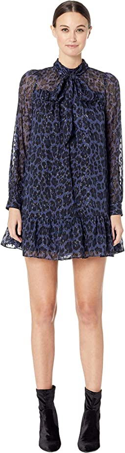 Wild Ones Leopard Clip Dot Mini Dress