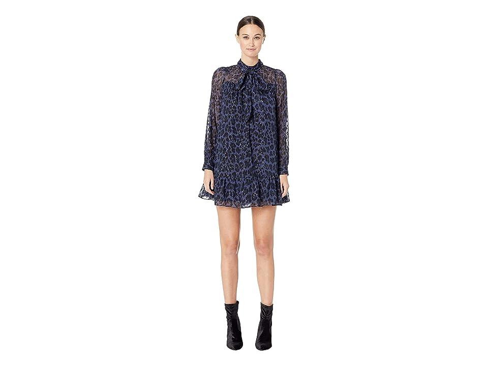 Kate Spade New York Wild Ones Leopard Clip Dot Mini Dress (Light Adriatic Blue) Women