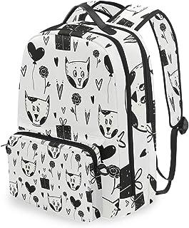 Mochila con bolsa de cruz desmontable conjunto lindo gato computadora mochilas libro bolsa para viajes senderismo camping Daypack