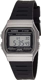 Casio Grey Dial Resin Band Watch - F-91Wm-1Bdf, Digital Display, For Unisex