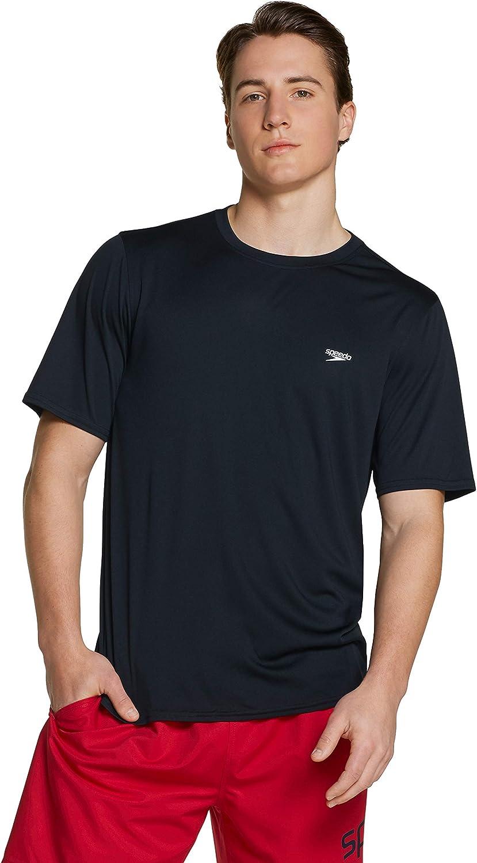 Speedo Men's UV Swim Shirt Basic Easy Short Sleeve Regular Fit