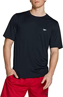 Men's UV Swim Shirt Basic Easy Short Sleeve Regular Fit