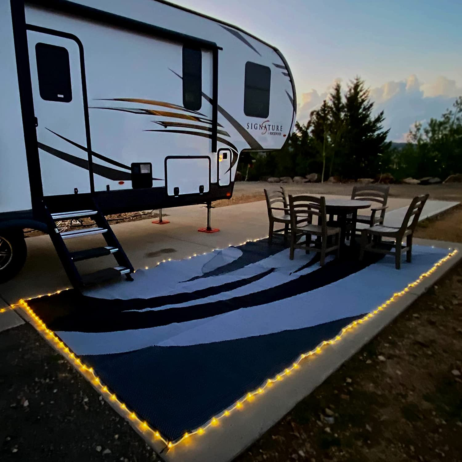 REVERSIBLE MATS LED Illuminated 1 year warranty Patio A surprise price is realized Outdoor 8-Feet - Mat