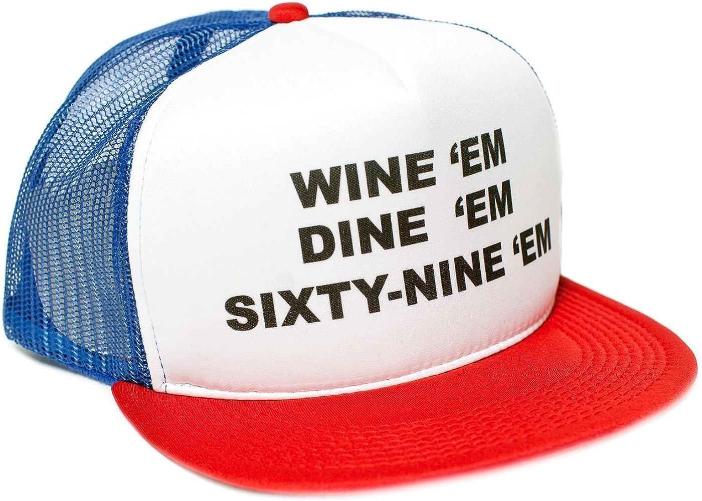 Wine Em Dine Reservation Sixty Nine 69 High quality One-Size Bill Flat Unisex-Adult Tr