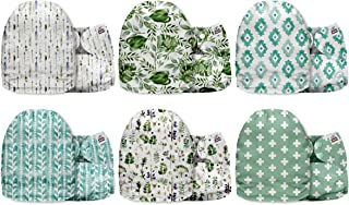 Mama Koala Minky One Size Baby Washable Reusable Pocket Cloth Nappies, 6 Pack with 6 One Size Microfiber Inserts (Soft and...