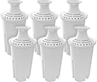Fette Filter – Water Replacement Filters for Standard Brita Water Pitchers for Cleaner Great Tasting Water. (Pack of 6)
