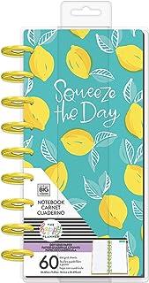 me & my BIG ideas Classic Half Sheet Notebook - The Happy Planner Scrapbooking Supplies - Lemon Print - 60 Sheets of Dot G...