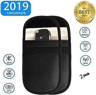 2 PCS Key Signal Blocker Case - Car Keyless Entry Fob Guard RFID Signal Blocking Pouch Bag, Antitheft Lock Devices, Keyfobs for WiFi/GSM/LTE/NFC/RF Blocked (Updated)