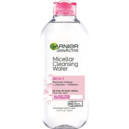 Garnier SkinActive Micellar Cleansing Water, For All Skin Types, 13.5 Fl Oz