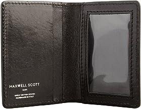 Maxwell Scott Italian Leather Travelcard Holder - Vallata Black