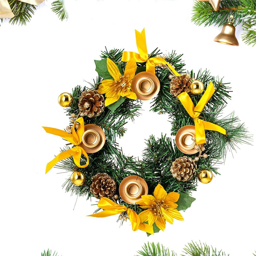 Christmas Advent Wreath Decorations Direct stock discount 4 Many popular brands Candles Holder Wrea