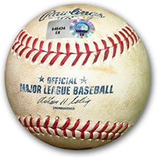 Zack Greinke Game Used Baseball 6/1/14 Dodgers Pitch in Dirt Pirates EK648434 - MLB Game Used Baseballs