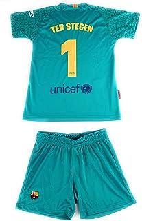 Equipación 17-18 FC Barcelona niño TER STEGEN camiseta pantalón tallas 6 a 14