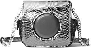 MICHAEL Michael Kors Scout Metallic Snake-Embossed Leather Camera Bag - Light Pewter