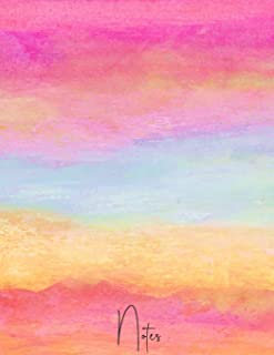 Notes: Beautiful Elegant Watercolor College Ruled Notebook Journal - 120 Pages - Large (8.5 x 11 inches)