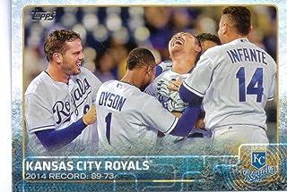 Kansas City Royals 2015 Topps MLB Baseball Regular Issue Complete Mint 22 Card Team Set with Alex Gordon Eric Hosmer Plus