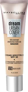 Maybelline Dream Urban Cover Flawless Coverage Foundation Makeup, SPF 50, Warm Nude