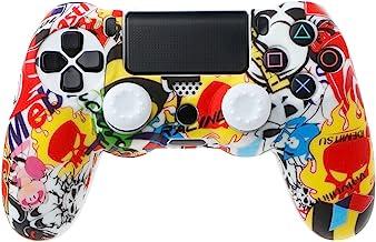 Siwetg Gamepad - Funda para mando de PS4 (incluye 2 tapas)