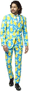 OppoSuits Crazy Prom Suits for Men – Shineapple – Comes with Jacket, Pants And Tie in Funny Designs Abito da Uomo