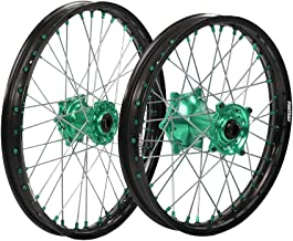 ProTrax Complete Wheel Rim Set Green Hub Front and Rear 21