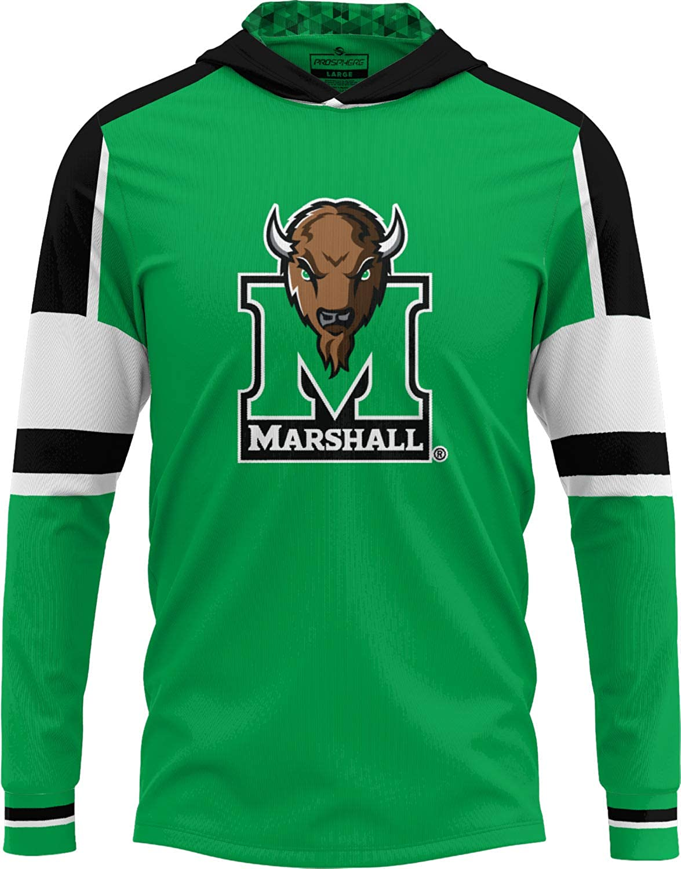 ProSphere Marshall University 市販 Men's Long Hooded Thro Sleeve プレゼント Tee