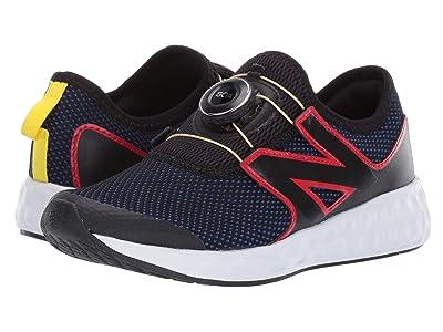 New Balance Kids N Speed (Little Kid) (Black/UV Blue/Team Red) Boys Shoes