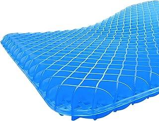 Gel Seat Cushion, Egg Seatting Cushion Wheelchair Cushion with Non-Slip Cover, Breathable Chair Pads Honeycomb Design Abso...