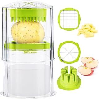 Duerer Coupe-frites Pomme de terre Coupe-pomme, Cuisine Légumes Carottes Oignon Chopper Fruit Tomate Corer, Lame en acier ...