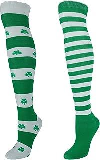 CTM Women's St. Patrick's Day Knee High Socks Set (2 pack)