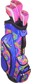 Birdie Babe Women Blue Tie Dye Hybrid Golf Bag with Free Headcovers