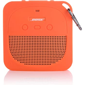TXEsign Protective Silicone Stand Up Case for Bose Soundlink Micro Waterproof Bluetooth Portable Speaker (Orange)