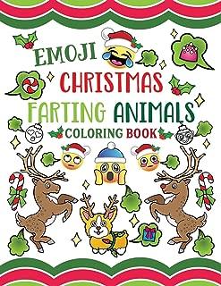 Emoji Christmas Farting Animals Coloring Book