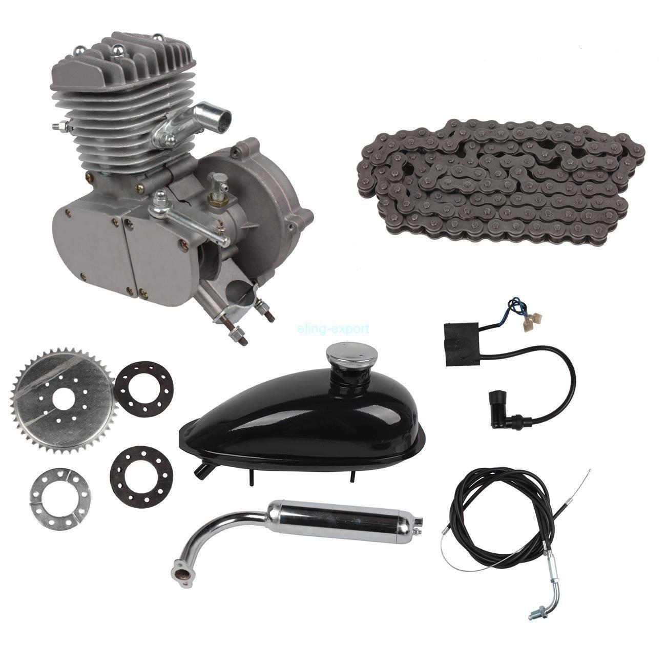 RayWax Motorizado Bicicleta 80CC Kit, 2 Trazo Kit de Motor de ...