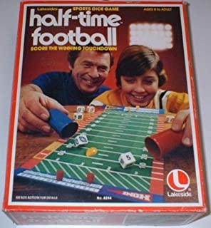 Vintage Half-Time Football Sports Dice Game
