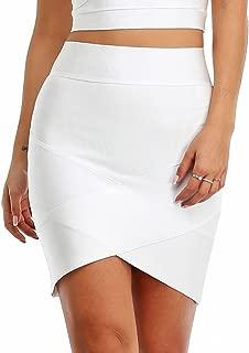 Hego Women's Sexy Stretch Elastic Short Bandage Bodycon Black Tube Mini Skirt H627