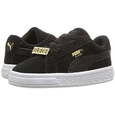 Puma Kids Suede Classics Fabulous INF (Toddler) (Black) Boys Shoes