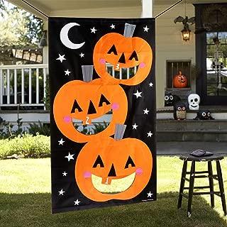 OurWarm Halloween Games Pumpkin Bean Bag Toss Game with 3 Bean Bags, Felt Halloween Games for Kids Halloween Party Decorations