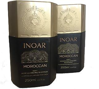 INOARモロッコ-ブラジル風ケラチンくせ毛直しトリートメント または、ブラジル風ブロー乾燥250ML +シャンプー250ML