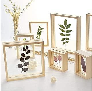 Double Sided Glass Photo Frame DIY Plant Specimens Solid Wood Frame Leaf Clip Desktop Decoration Picture Frames Ornament,9.9X13.7