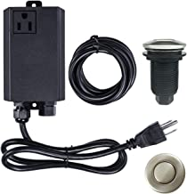 Garbage Disposal Air Switch Kit Sink Top Waste Disposal Stainless Steel Brushed Nickel On/Off Air Button Food and Waste Disposals Part by Etoolcity