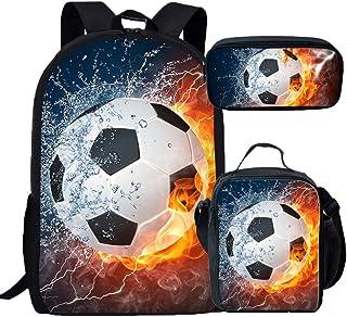 Coloranimal Children's School Bag+Pencil Case+Lunch Pouch 3D Football Design