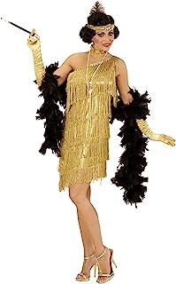 0d78b20c5c46 WIDMANN- Charleston Oro Vestito Girocollo Fascia per Testa con Piuma Costumi  694 per Adulti,