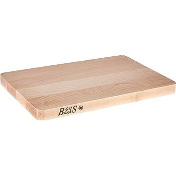 John Boos Block Chop-N-Slice Maple Wood Edge Grain Reversible Cutting Board, 20 Inches x 15 Inches x 1.25 Inches