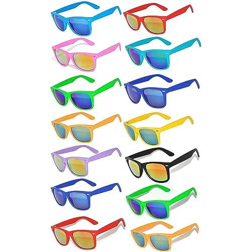 28089e50720b Retro Vintage Sunglasses Colorful Mirror Lens Matte Frame 3,5,6,10 Pairs