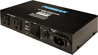 Furman AC-215A Compact Power Conditioner with Auto-Resetting Voltage Protection - Black